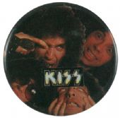 Kiss - 'Group Making Faces' Button Badge